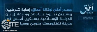 'Amaq Reports IS Fighter Stabbed Two Russian Policemen in Neftekumsk