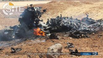 IS Releases Photos of Syrian Fighter Jet Crashed in Yarmouk Basin
