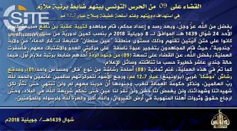 AQIM's Uqba bin Nafi Battalion Claims Credit for Attack on Tunisian National Guard Near Tunisia-Algeria Border