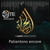 IS' al-Hayat Media Releases French Chant Promoting Patience Till Victory