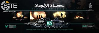 IS' al-Hayat Media Gives Statistical Breaking of Group Operations (August 23-29)