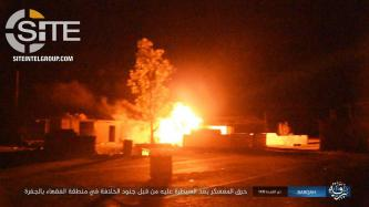 IS Reports on Attack at Libyan Camp and Checkpoint in Jufra in Naba 143, Separately Publishes Photos from Op