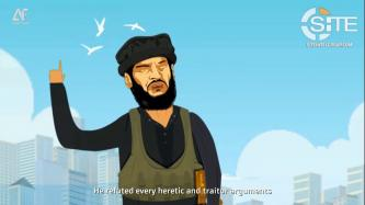 IS-linked Group Releases Cartoon for Biography of Former IS Spokesman