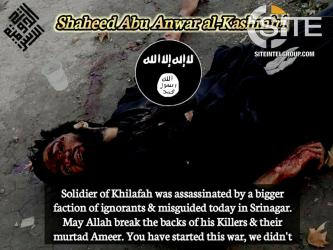 Pro-IS Kashmiri Jihadists Vow Revenge Against Rival Group for Killing of Fighter in Srinagar
