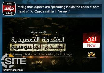 Prominent Pro-IS Group Spins Latest AQAP Video on Espionage to Reflect Askew Priorities