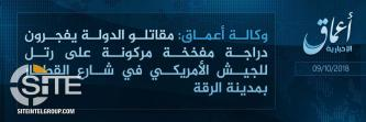 'Amaq Reports IS Detonating Bike Bomb on U.S. Convoy in Raqqah