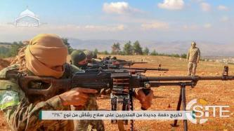 HTS Documents Fighters Training with Machine Guns