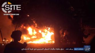 Boko Haram Claims Killing 5 Nigerian Soldier in Base Attack in Borno, Photographs War Spoils and Burning Vehices