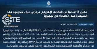 IS' West Africa Province Claims Killing 15 African Forces in Clash, Seizing Temporary Control Over Town in Maiduguri