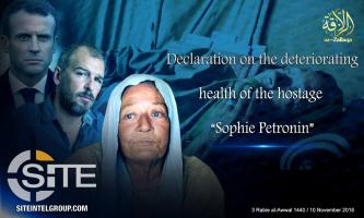 JNIM Announces Deteriorating Health of French Hostage, Charges France with Obstructing Case Resolution