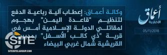 IS Division in Yemen Claims Attacks on AQAP and Houthi Fighters in Same District