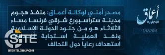 "'Amaq Identifies Strasbourg Gunman as an IS ""Soldier"""