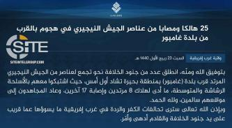 IS' West Africa Province Claims Inflicting 25 Casualties Among Nigerian Soldiers in Attack Near Gamboru