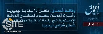 'Amaq Reports IS Fighters Killing 15 Nigerian Soldiers in Attack in Dikwa