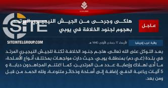 IS' West Africa Province Claims Attack on Nigerian Soldiers in Geidam (Yobe)