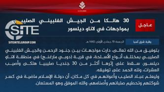 IS Claims Killing Over 30 Philippine Soldiers in Clashes in Lanao del Sur