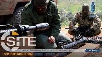 HTS Photo Report Documents Fighters Training with Machine Guns