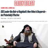 "Daily Beast: ""ISIS Leader Abu Bakr al-Baghdadi's New Video Is Desperate—but Potentially Effective"" by Rita Katz"