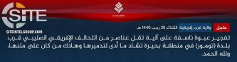 IS' West Africa Province Claims Bombing MJTF Vehicle in Diffa (Niger)
