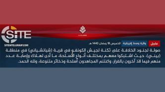 IS' Central Africa Province Claims Attacks on Congolese Army in Beni and Kamango