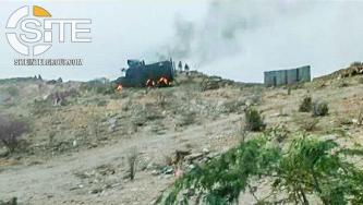 AQAP Claims 5 SBF Forces Dead, Armored Vehicle Destroyed in Raid in Abyan