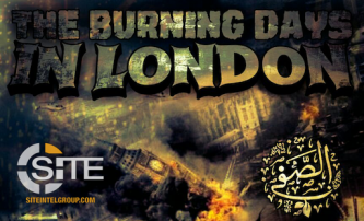 Threatening Poster from IS-aligned Group Features Explosion at Palace of Westminster