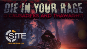 "IS-aligned Group Features Trump in Poster, Threatening ""Die in Your Rage"""