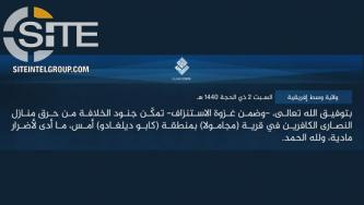 IS Claims Burning Houses of Christians in Mozambique's Cabo Delgado Region