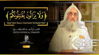 AQ Leader Zawahiri Calls for Attacks on American, European, Israeli, and Russian Interests in Video Commemorating 18th Anniversary of 9/11