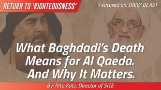 "Daily Beast: ""What Baghdadi's Death Means for Al Qaeda. And Why It Matters,"" by Rita Katz"
