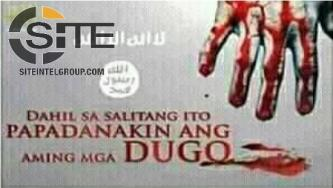 "Filipino Account Calls to Join IS, Indicates Preference in Killing ""Hypocrite"" Muslims"