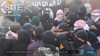 "IS Fighters in Daraa, Syria, Next to be Photographed Pledging to New ""Caliph"""