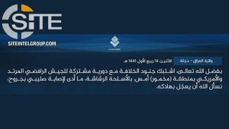 IS Claims Wounding American Soldier in Clash in Northern Iraq