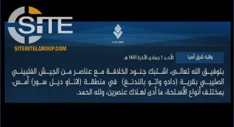 IS Claims Killing 2 Members of the Philippine Army in Lanao Province Clash
