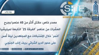 HTS Claims Killing 40+ SAA Elite Tiger Forces