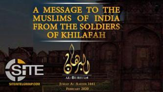 Jundul Khilafah Hind Media Unit Calls for Attacks on Intelligence Agencies and Hindus in India