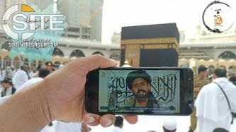 TTP Supporter Displays Group Media Outside Holy Shrine in Saudi Arabia