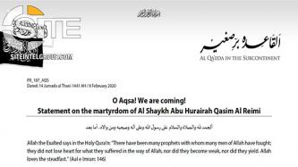 "In Death of AQAP Leader, AQIS Founds ""Milestone"" on U.S. and Israel's ""Journey Towards Decline"""