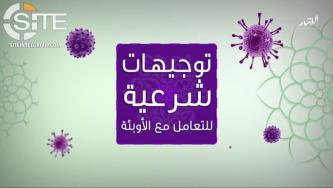 IS-aligned al-Battar Media Creates Video from Naba 225 Infographic on Dealing with Epidemics
