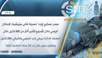 HTS Claims Killing 500+ in One Week from Pro-Assad Militias