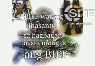 IS/BIFF Account Urges Killing of Police Officer, Calls for Violence to Achieve Autonomy in Mindanao
