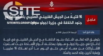 Amidst COVID-19 Lockdown, IS Claims Killing 16 Soldiers in Sulu, Philippines