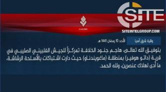 IS Claims Killing 2 Soldiers Implementing COVID-19 Measures in Maguindanao
