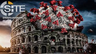 Pro-IS Group Depicts Coronavirus at Colosseum in Poster Promoting Divine Punishment