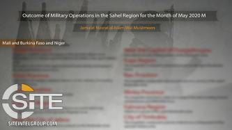 JNIM Infographic Presents Military Statistics for May 2020, Claims 25+ Killed