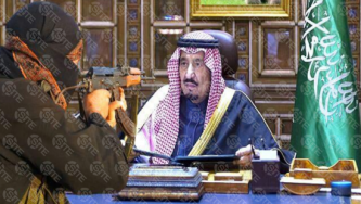 King Salman of Saudi Arabia Threatened in Poster by IS-aligned Media Group