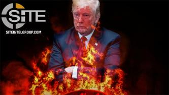 IS-aligned Group Uses Image of Burning Minneapolis Police Station to Portray Fall of U.S. at Trump's Hands