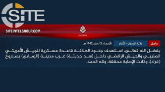 IS Claims Rocket Strike on Joint American-Iraqi Base in Anbar
