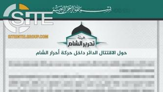 HTS Denies Interfering in Ahrar al-Sham Dispute, Claims Attempt to Resolve Infighting