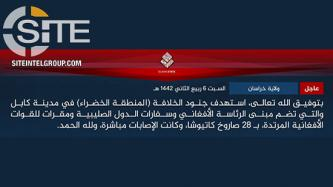 ISKP Claims Rocket Barrage on Kabul's Green Zone